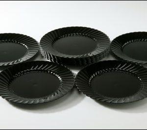"Black 9"" Plates (20)"