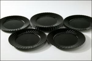 "Black 9"" Plates (10)"