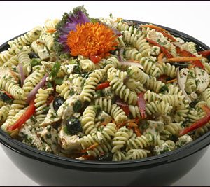 Fusilli with Feta & Grilled Chicken